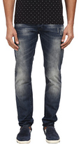 Armani Jeans Slim Fit Floral Pocket Jean in Mid-Tone Men's Jeans