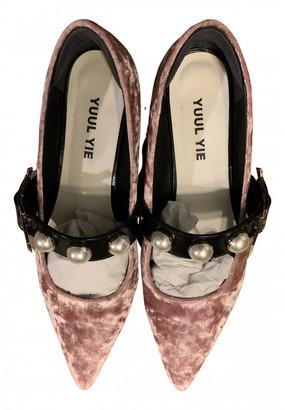 YUUL YIE Pink Velvet Flats