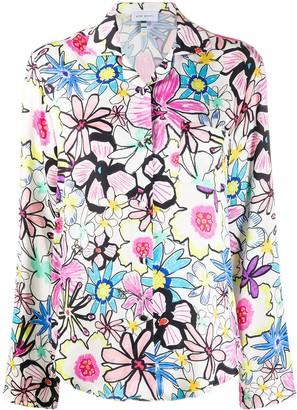 Mira Mikati floral print curved hem shirt