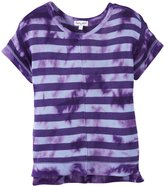 Splendid Tie Dyed Loose Knit Top (Toddler/Kid) - Lavender-6X
