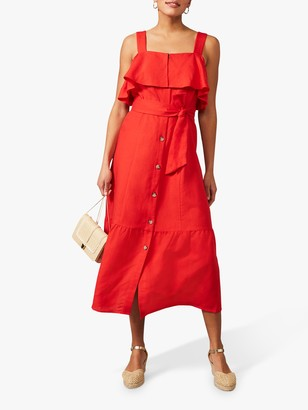 Phase Eight Arlos Midi Dress, Red