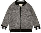 River Island Mini boys grey sporty bomber jacket