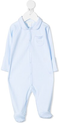 Marie Chantal Scallop-Trimmed Cotton Pajama