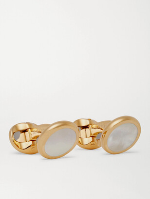 Kingsman Deakin & Francis Gold-Plated Mother-of-Pearl Cufflinks - Men - Gold