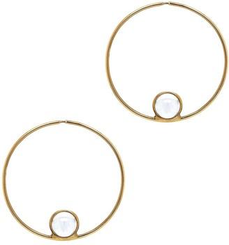Cyril Studio Small Halo Hoop Yellow Gold Earrings