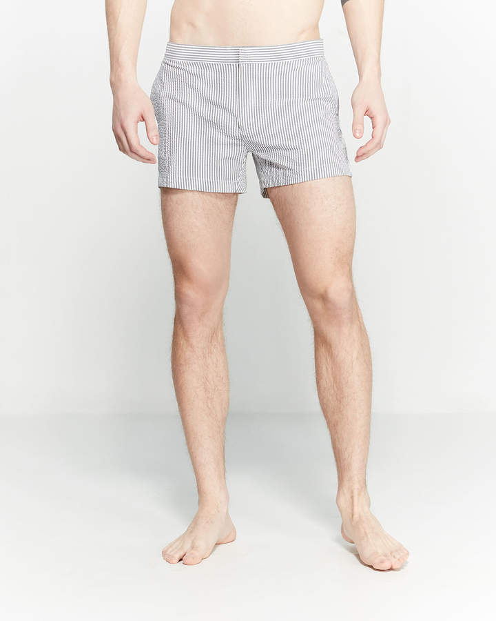 Solid & Striped The Charlie Seersucker Swim Shorts