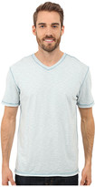 True Grit Soft Slub Short Sleeve V-Neck Tee w/ Contrast Coverstitch