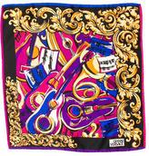 Versace Multicolor Printed Scarf