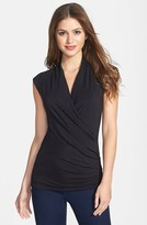 Vince Camuto Draped Front Stretch Knit Top