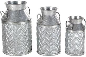 Uma Enterprises Metal Milk Jug Set Of 3