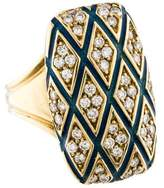 Ring 18K Diamond & Enamel