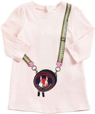 Little Marc Jacobs Mascot Bag Print Cotton Interlock Dress