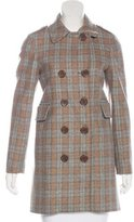 See by Chloe Wool Plaid Coat