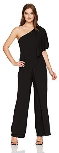 90314505fe7 Women's One Shoulder Jumpsuit with Cascade Ruffle Detailing