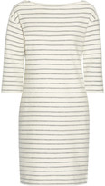 By Malene Birger Striped Cotton-terry Dress - Cream