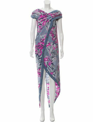 Sies Marjan Tess Scribble Snap Midi Dress w/ Tags fuchsia