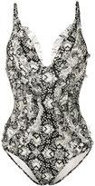 Zimmermann Divinity ruffle swimsuit - women - Nylon/Polyamide/Spandex/Elastane - 0