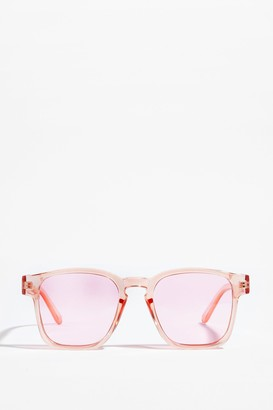Nasty Gal Womens One Vision Oversized Square Sunglasses - Pink