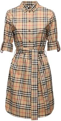 Burberry Giovanna Checked Cotton Poplin Dress