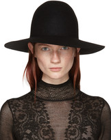 Lanvin Black Felted Fur Hat