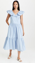 Thumbnail for your product : ENGLISH FACTORY Ruffled Midi Dress