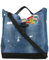 DSQUARED2 denim patch tote bag - men - Cotton/Suede - One Size