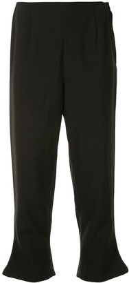 Comme Des Garçons Pre-Owned Flared Hems Cropped Trousers