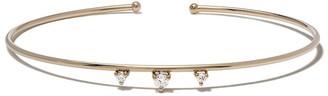 Mizuki 14kt Yellow Gold Three Diamond Bracelet