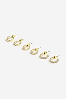 Topshop Freedom At 3 Pack Mini Hoop Earrings