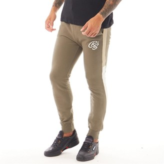 Crosshatch Mens Tarampa 2 Colour Panel Joggers Brown