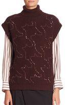 Brunello Cucinelli Cap Sleeves Sequined Sweater