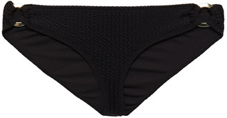 Duskii Textured Low-rise Bikini Briefs