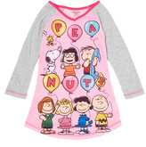 Komar Kids Pink & Gray Peanuts Nightgown - Girls