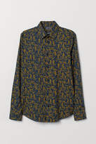 H&M Patterned shirt Slim Fit