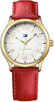Tommy Hilfiger Women's Red Pebble Leather Strap Watch 38mm 1781601