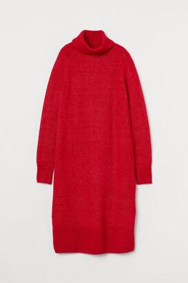 H&M Knit Turtleneck Dress - Red