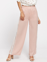 Shein Lace Insert Wide Leg Pants