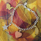 Anna Lou of London Engraved Inspirational Charm Bracelet