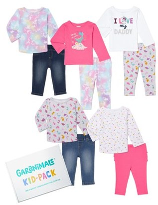 Garanimals Baby Girl Mix & Match Kid-Pack, 10pc Set