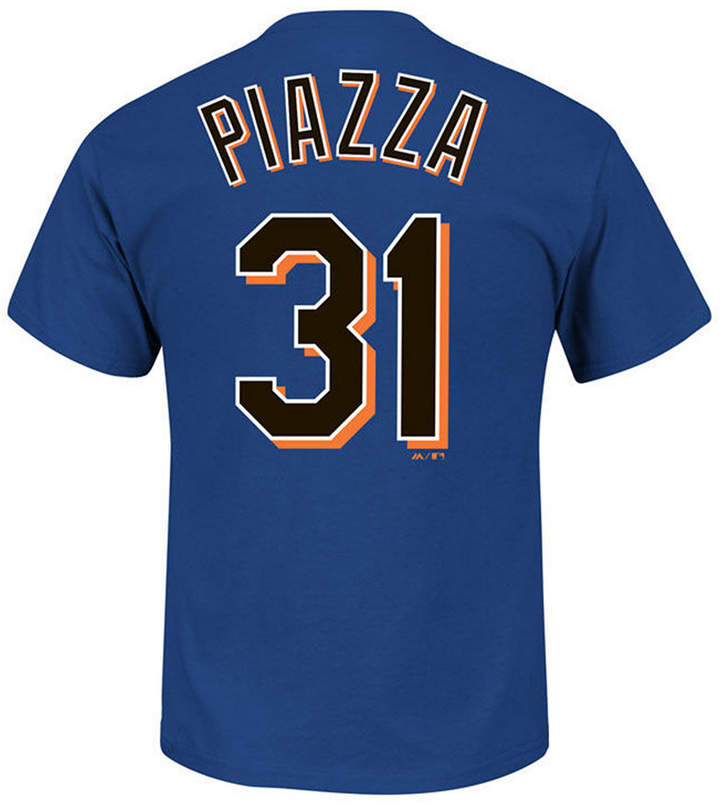 Majestic Men Mike Piazza New York Mets Cooperstown Player T-Shirt