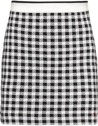 Miu Miu Checked Mini Skirt