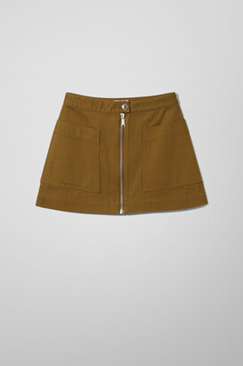 Weekday Patty Mini Skirt - Green