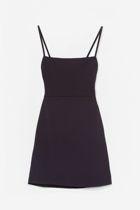 Nasty Gal Womens Cami for Love Square Neck Mini Dress - Black - 4, Black