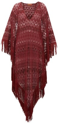 Missoni Mare - Metallic Crochet-knit Kaftan - Burgundy