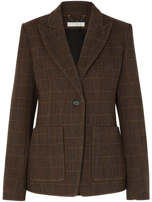 Chloé Checked Wool-blend Blazer