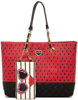 Betsey Johnson Scattered 3D Bow Tote