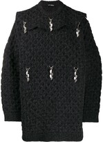 Raf Simons charm detail oversized jumper