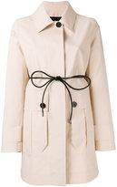 Moncler 'Galette' coat - women - Cotton/Leather - 1