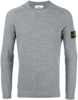 Stone Island logo patch jumper - men - Linen/Flax/Polyamide - XL