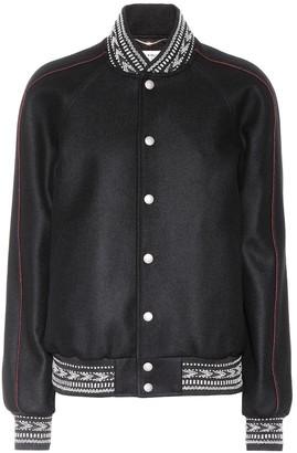 Saint Laurent Wool varsity jacket